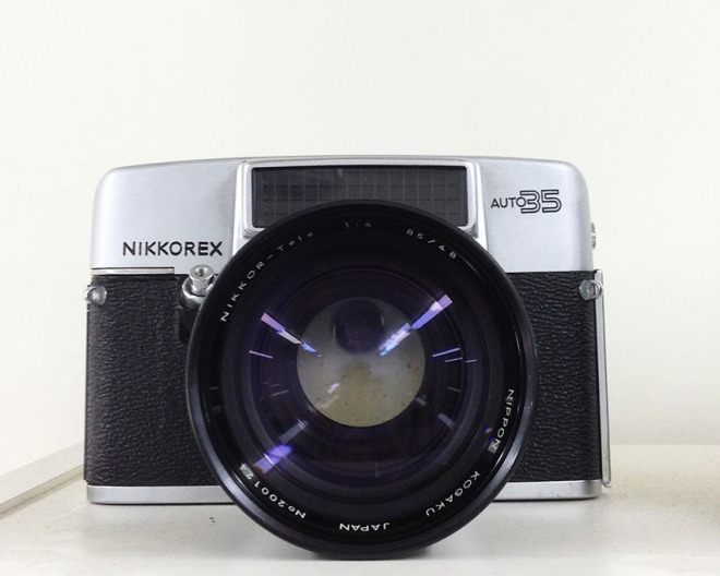 Nikkorex Auto 35 with super rare Telephoto lens attatchment. Cool!