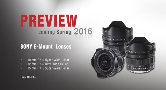 new voigtlander e mount lenses